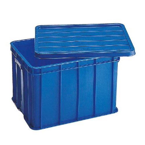 Solid Crate 632 x 427 x 383mm 76L with lid
