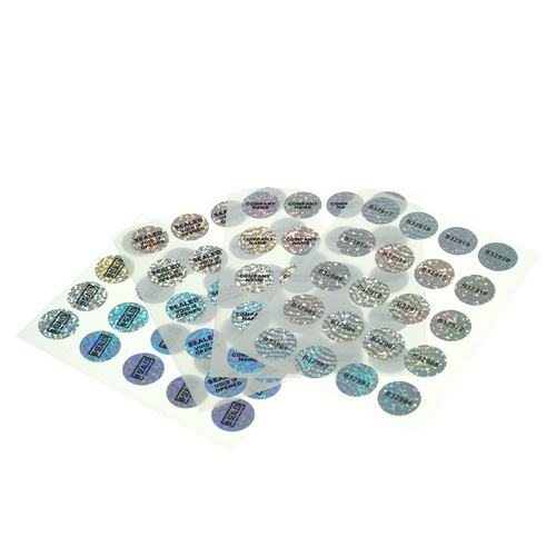 X-Safe 20mm Round Holographic Label, Crystal-art