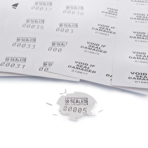X-Safe 30mm Round Destructible Label