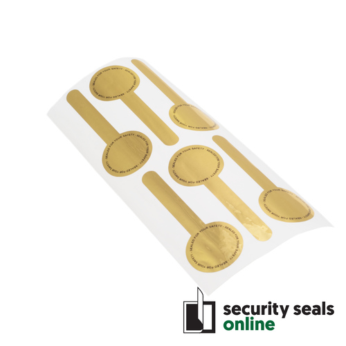 X-Safe 32x86mm Lollipop-shaped Total-Transfer - Gold / Sealed for your safety / Pack of 1,000